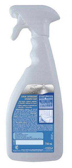 Désinfectant désinfectant Nosocomia SURF + PAE Spray 750ML Prodene