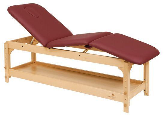Ecopostural C3229 in hoogte verstelbare houten massagetafel