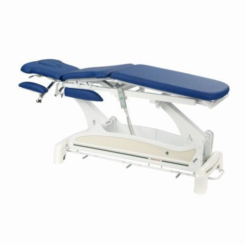 Ecopostural C3531M47 multi-functionele elektrische tafel, met armleuningen en ronde spoor voetpedaal