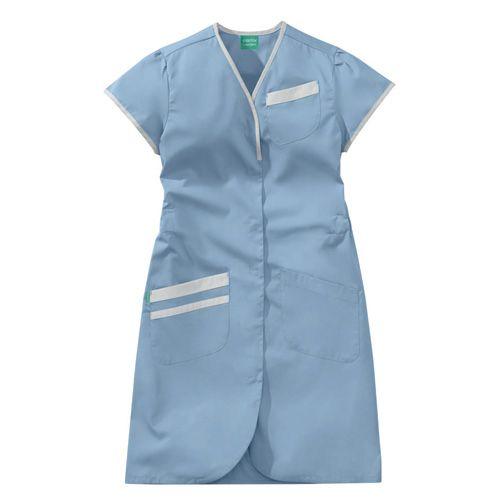 Blouse médicale femme manches courtes DAPHNEE 8PMC00PC Bleu ciel/Blanc