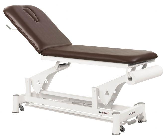 Ecopostural C3533 2-sectie elektrische tafel met ronde spoor voetpedaal