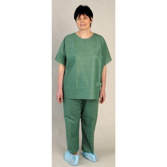 Pyjama PROFIL TUNIC vert non stérile LCH sachet de 5 ensembles
