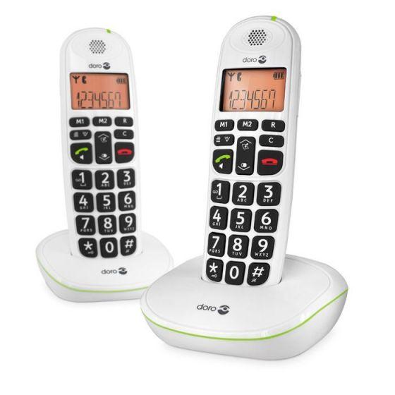 Téléphone fixe sans fil Doro PhoneEasy 100w Duo
